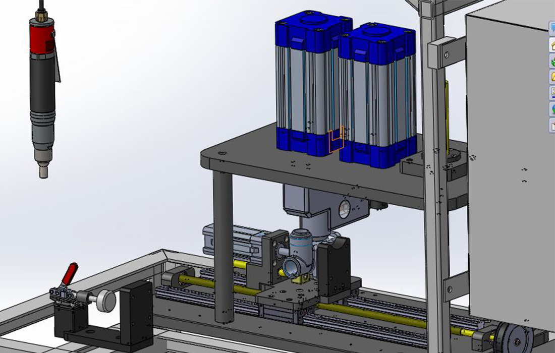 Automatic Pneumatic Press CAD